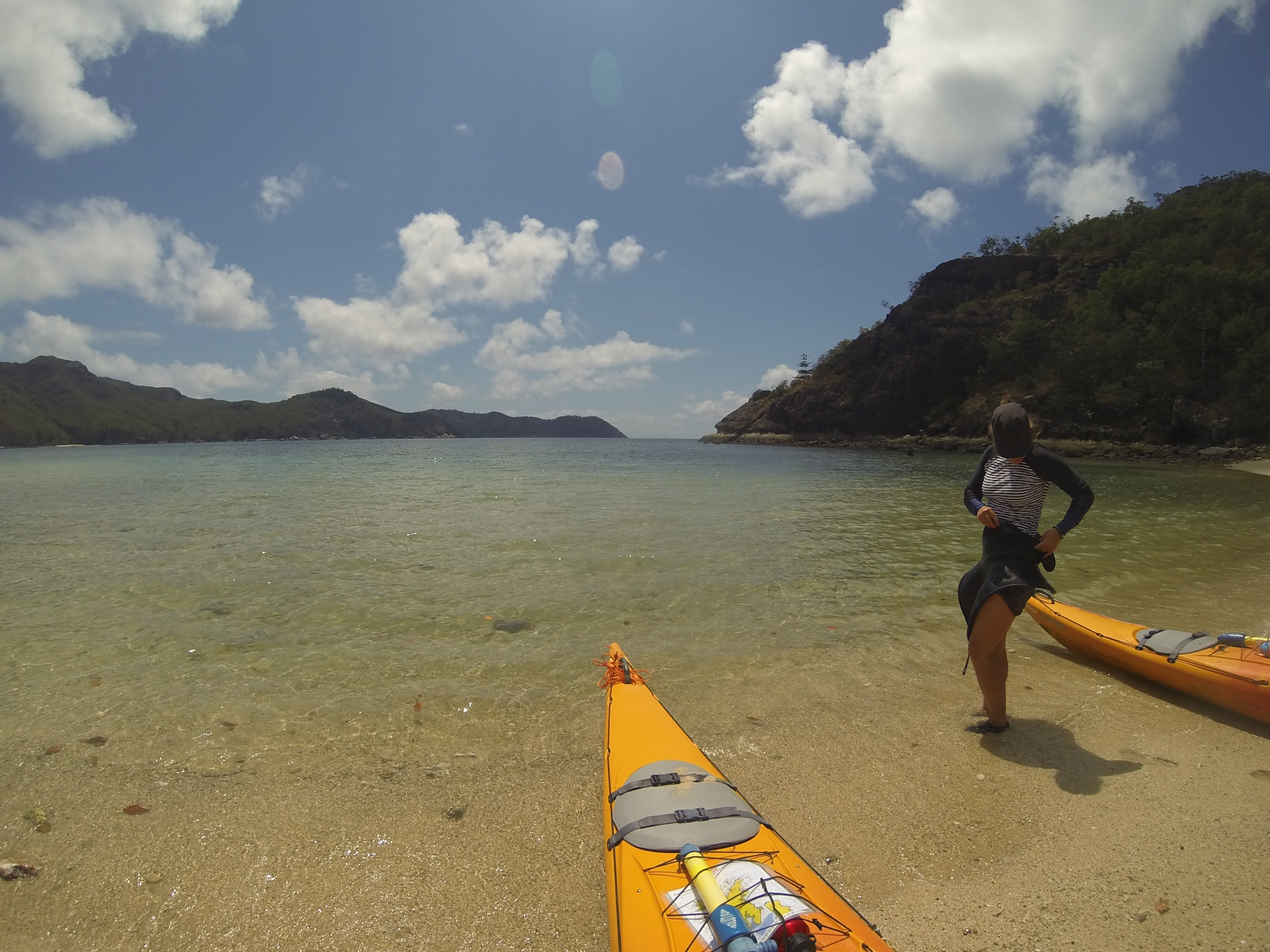 getting ready to launch from crayfish beach