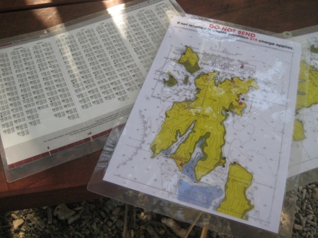 laminated tide charts and maps